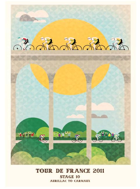 Tour De France Illustrations Sticky Bottle Sticky Bottle