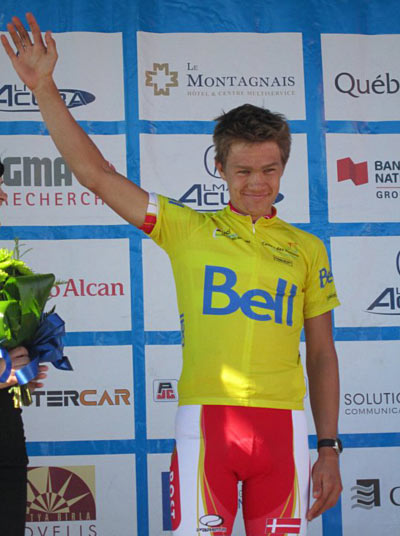 Breakthrough ride: Winning the Ville de Saguenay U23 Nations Cup race in 2011