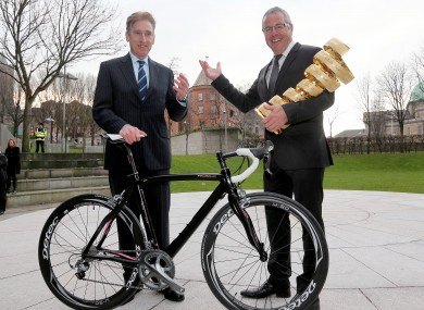 Photo: Sean Kelly has added his image and voice towards promoting the Giro Irish start. But he believes he and Stephen Roche could do more if more effort was being made generally to increase publicity around the race....