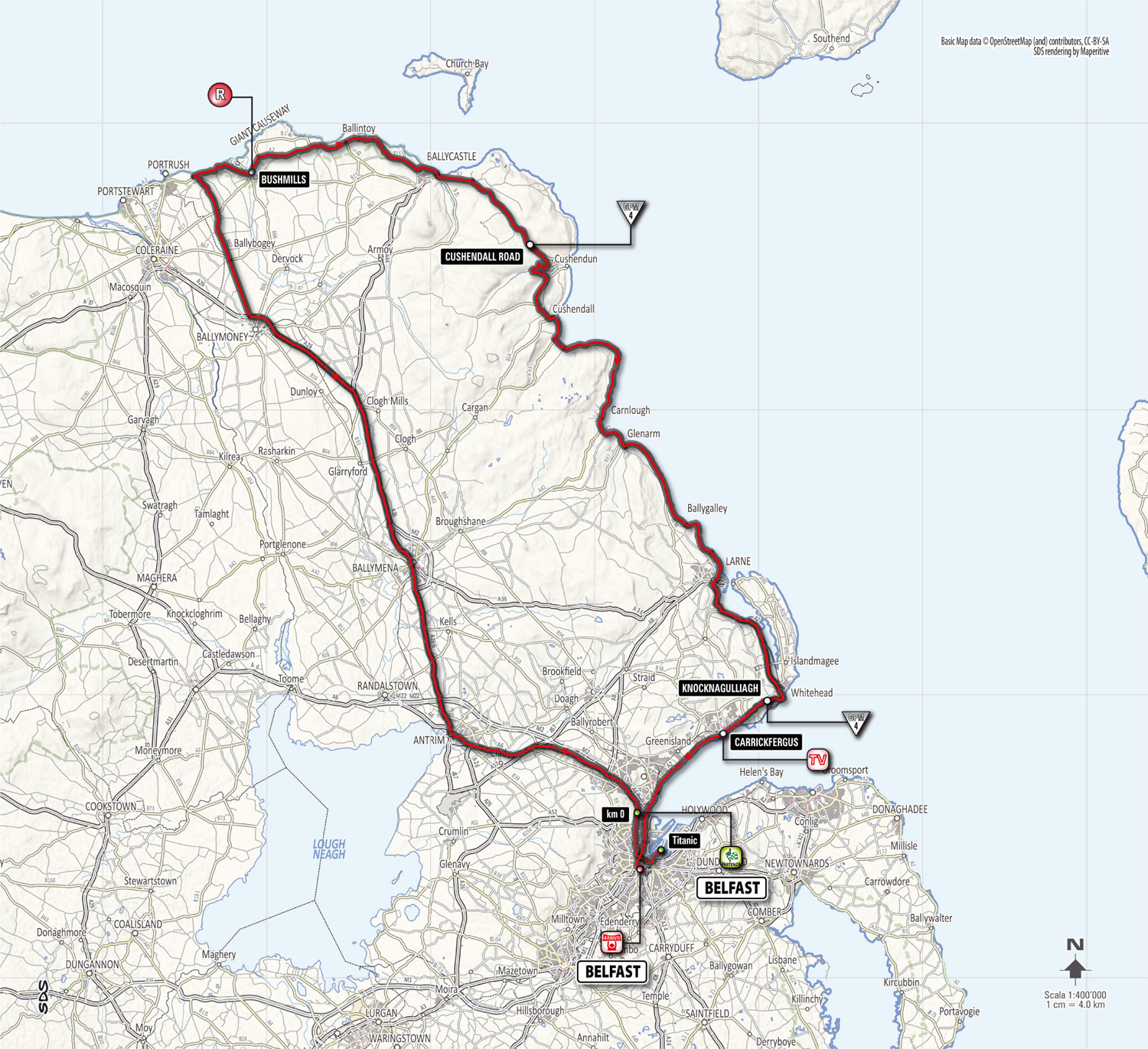 The exact route and definitive time schedule for Giro d ...