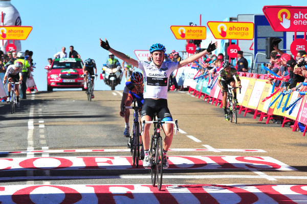 Photo: Dan Martin wins stage 9 of the Vuelta a Espana in 2009 into La Covatilla. In the next three weeks can he smash his Grand Tour best of 13th overall in the race that year and add more Grand Tour stage wins to his palmares? (Photo: Stefano Sirotti).