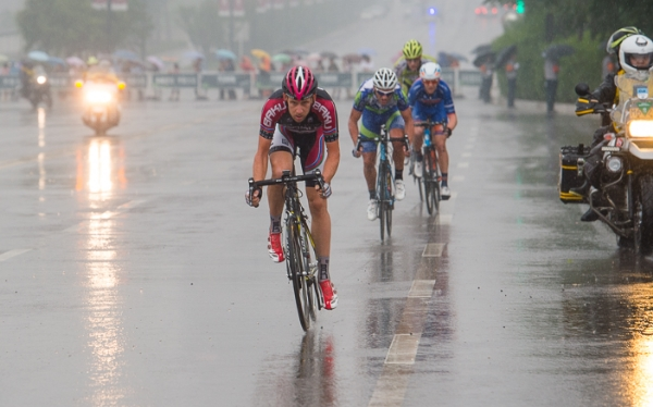 Photo: Matt Brammeier has been aggressive thus far on the Tour of China 1 and now lies in third place overall after another strong ride, though a miscalculation today left himself and a team mate red faced.
