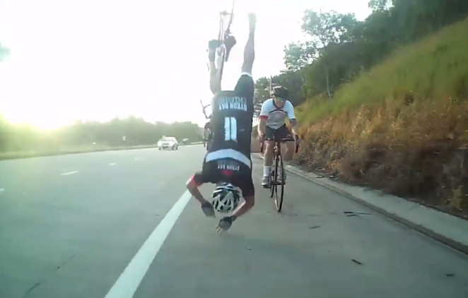 Video Rider Crashes Over The Handlebars At High Speed