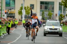 17 May 2015; Francesco Reda, Team IDEA 2010 ASD, on his way to winning Stage 1 of the 2015 An Post Rás. Dunboyne - Carlow. Picture credit: Paul Mohan / SPORTSFILE *** NO REPRODUCTION FEE ***