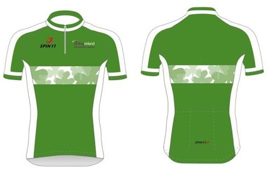 The green design without the sponsor s logos looks pretty sweet. The  classic look. Elite men s road champion Damien Shaw wearing the jersey ... a0cbd2da0