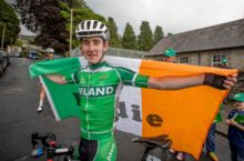 Eddie Dunbar celebrates after winning Stage 7 of the An Post Rás 28/5/2016