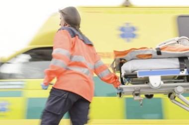 Medic working