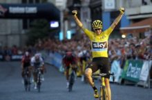 Chris Froome wins the 2016 post-Tour creiterium in Aalst, Belgium.
