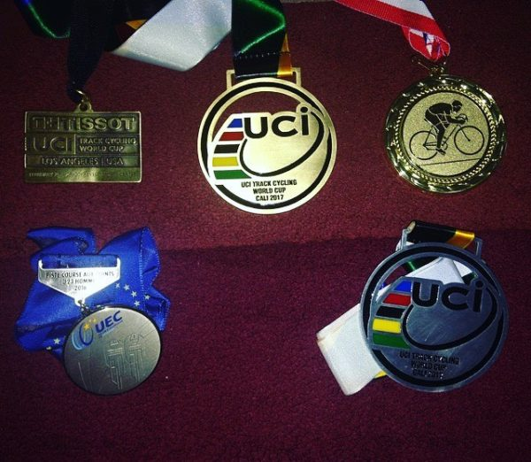 Mark Downey's cycling medals