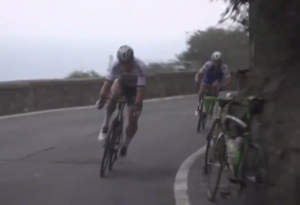 Video: Two lads put their bikes in (very) bad spot at Milan Sanremo