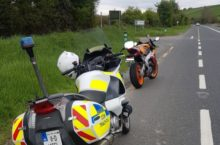 Learner motorcyclist just clocked by Garda doing staggering speed