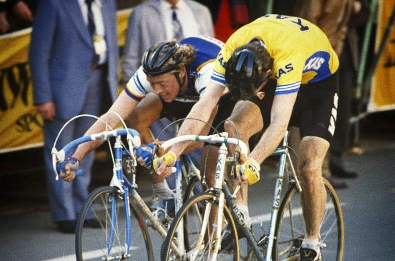 Eric Vanderaerden au bout de l'effort sur le Tour de France 1988