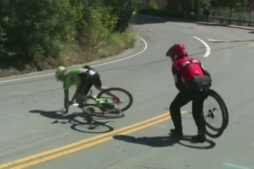 Video: Tour California crash clip shows just how serious concussion is