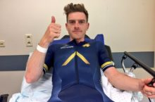 Martyn Irvine tries to race on after fracturing hip at 60kmph