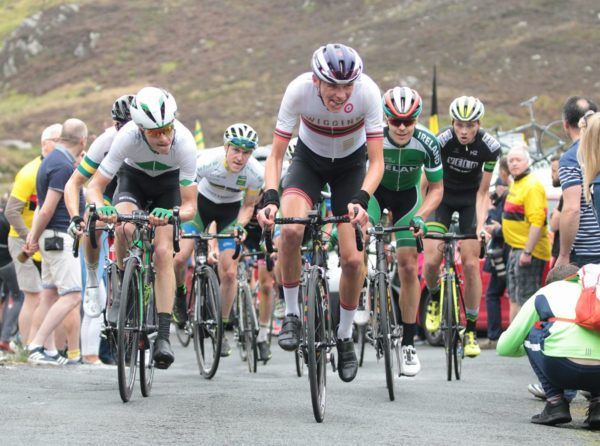 Flying Michael O'Loughlin (20) on his big milestone in this Rás