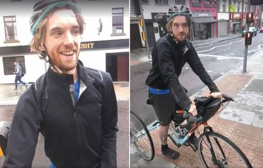 One great man's battle against adversity cycling around Ireland