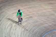An important Irish record has been lowered to world class standards at a UCI track meeting in Moscow. Above, the woman who did the damage, Robyn Stewart (Photo: Natalia Levshina)