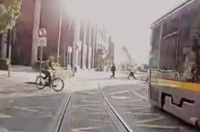 "Video: Astonishing new ""irresponsible cyclists"" Luas campaign"