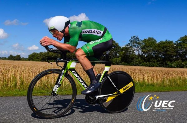 Dumoulin change bikes mat Worlds TT