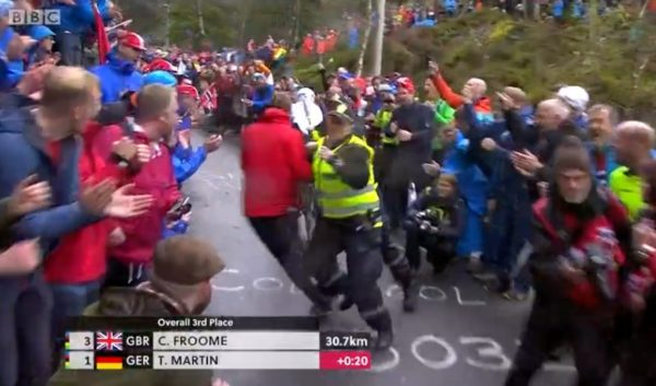 Norwegian cops tackle Bergen fan running after Tony Martin