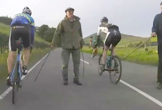 Video Tour o' The Borders cycling sportive farmer protest