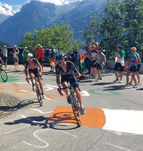 Irish Corner 10 back at Alpe d'Huez in Tour 2018
