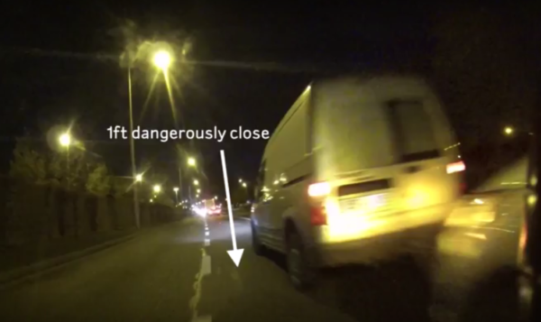 Video Dublin driver's instant karma after close-passing cyclist