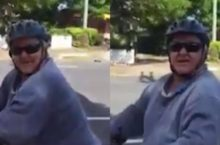 Video cyclist sexual harassment Australia