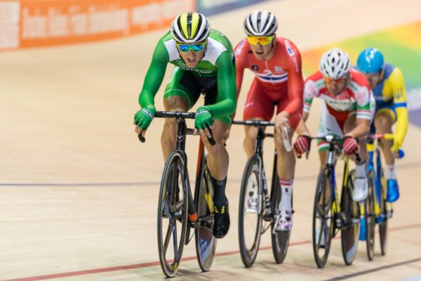 Irish track cyclists in action at Poland UCI World Cup
