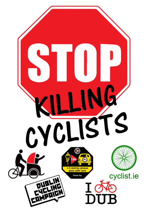 Stop Killing Cyclists Dublin die-in