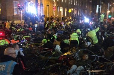 Fianna Fail joins push for cyclist close-pass law after die-in