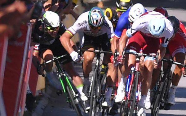 Peter Sagan Mark Cavendish Tour crash