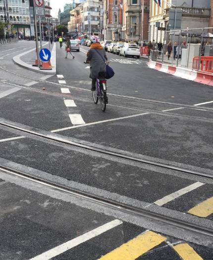 cyclists ban Luas Dublin