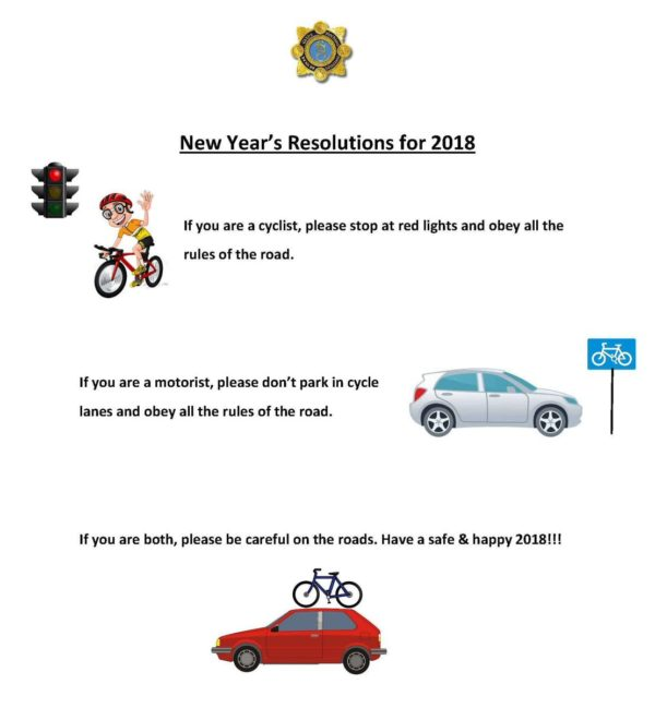 Garda Twitter poll cyclists motorists