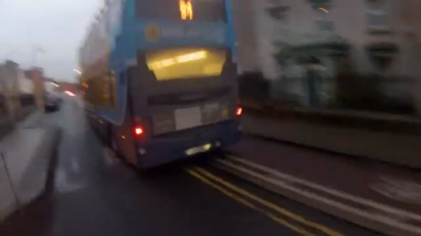 Dublin Bus cycle lane Blackrock