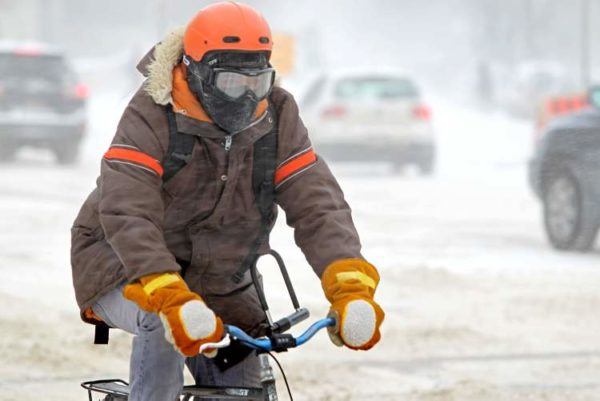 The Solution To A Cold Face While Cycling In Cold Conditions