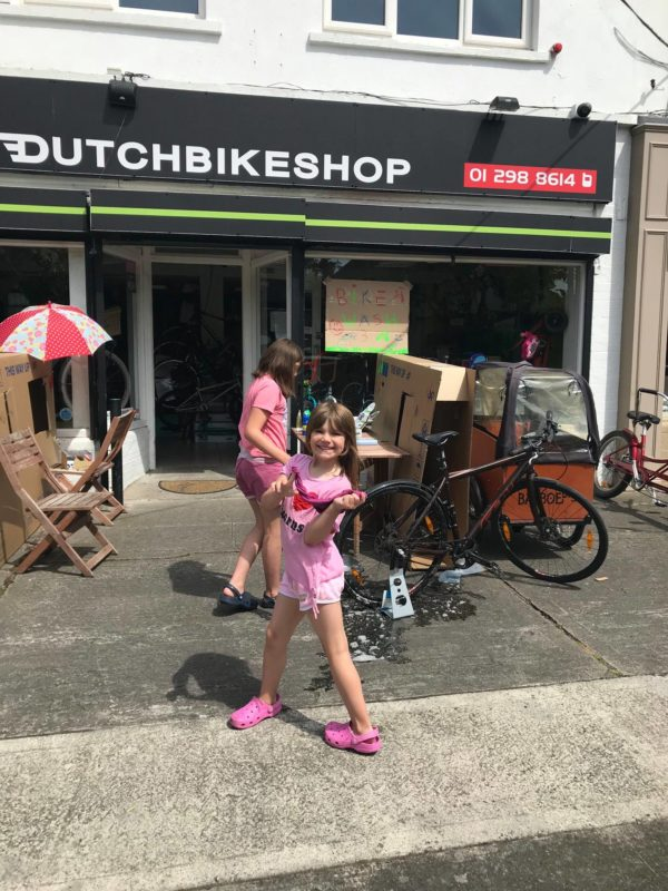 Girl bike wash Dutch Bike Shop Dublin