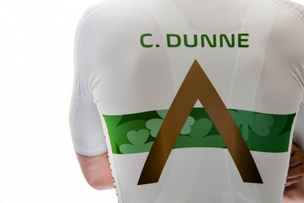 Conor Dunne Aqua Blue Irish champion kit & bike