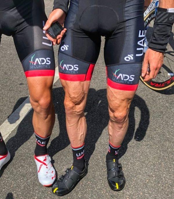 Dan Martin's legs ripped