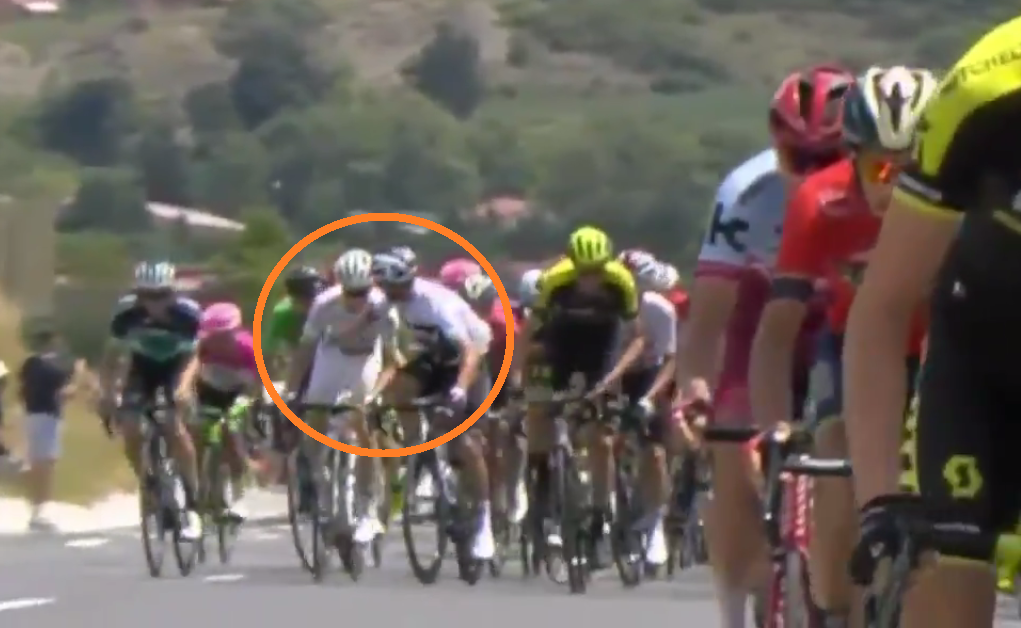 video gianni moscon disqualified from tour de france