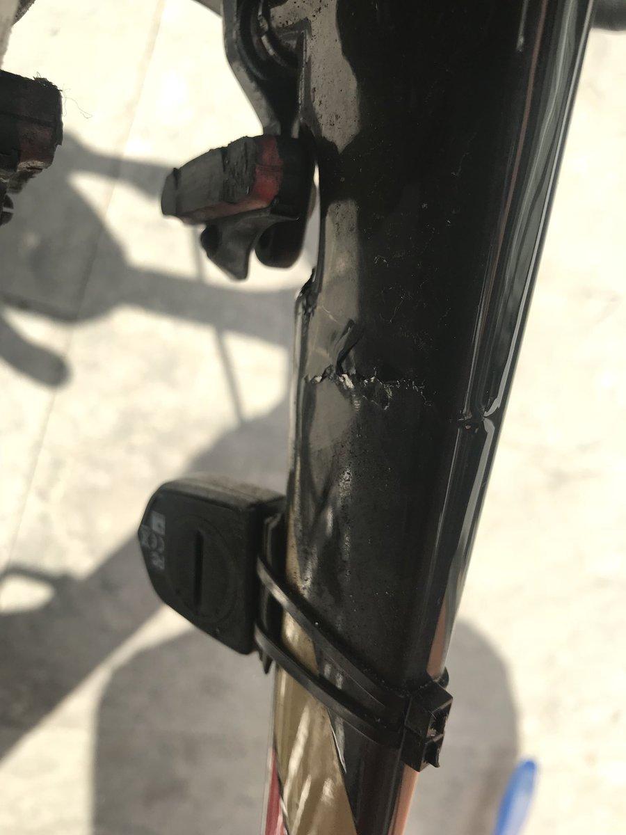 Bahrain Merida bikes broken flying out of Glasgow - Sticky Bottle