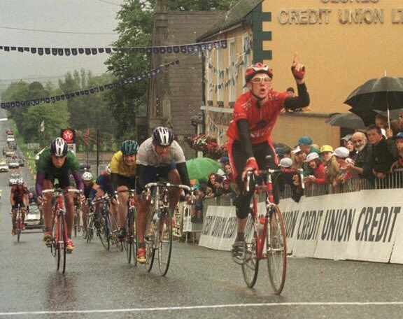 ca8e9eb97 Bradley Wiggins wins a stage of the Junior Tour of Ireland 20 years ago  from Yanto Barker.