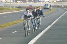 cycling lanes Dublin 1986 TV report