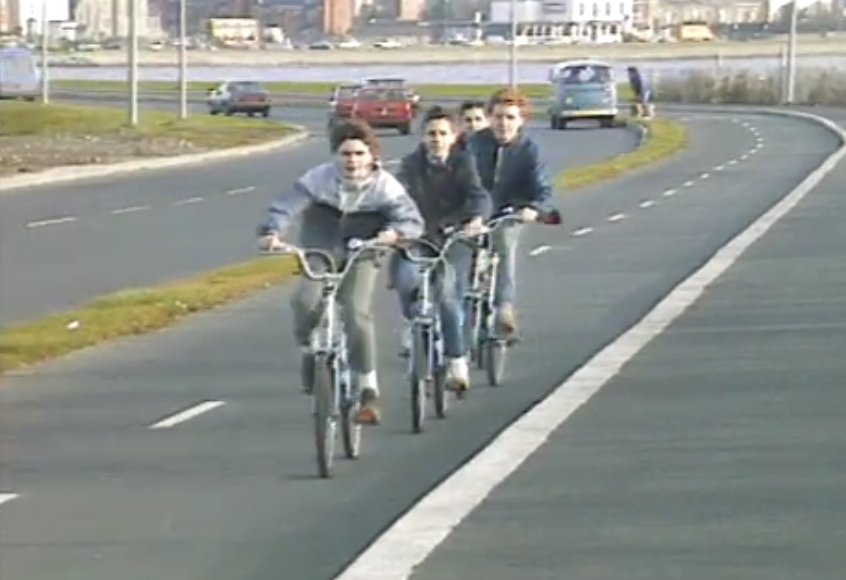 cycling lanes Dublin 1986 TV report