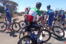 Amateur cyclist QuickStep lead-out