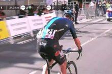 Chris Froome crash Catalunya